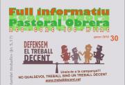 Nou Full Informatiu de la Pastoral Obrera de Barcelona